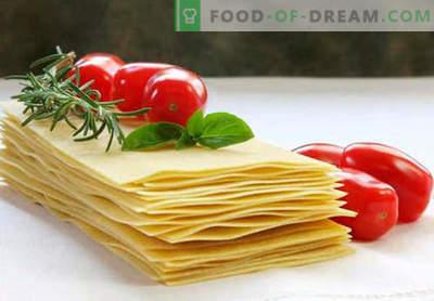 Лазања - вистински рецепти. Како брзо и вкусно да го готви тестото за лазања.