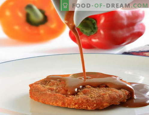 Црвен сос - најдобрите рецепти. Како правилно да се готви црвен сос.