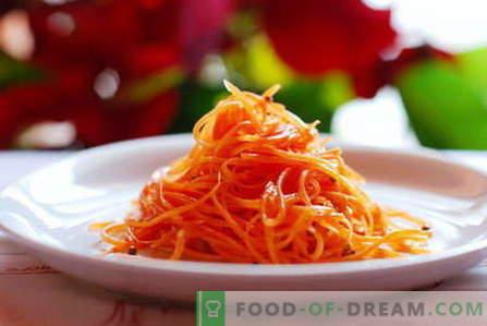 Салата од моркови се најдобри рецепти. Како правилно и вкусно да се подготви салата од моркови.