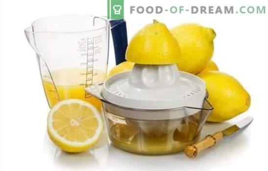 Изработка на сок од лимон - рецепти со божен вкус! Сок од лимон: рецепти на алкохолни и безалкохолни пијалаци со