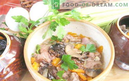 Свинско месо во тенџере - најдобри рецепти. Како правилно и вкусно готви свинско месо во тенџере.
