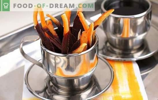Кандираните портокали се корисна сладост за возрасни и деца. Рецепти на зашеметени портокали и печење со нив