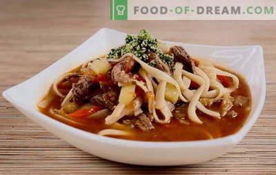 Узбекската супа е прифатлива егзотика. Карактеристики на подготовка на узбечка јагнешко супа, узбекистански супа од супа: рецепти