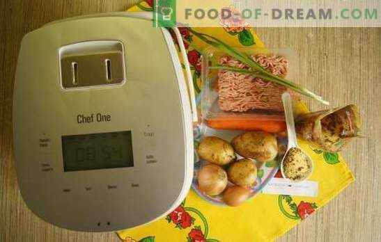 Фото рецепт за супа со ќофтиња во бавен шпорет: ручек за еден час. Едноставна супа со ќофтиња и кусуси во бавен шпорет: чекор по чекор рецепт