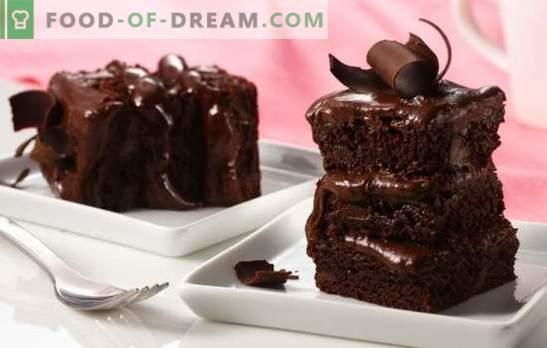 Домашна чоколадна торта - заводлив десерт! Едноставни рецепти за чоколадни колачи со колачи, избрани, желе
