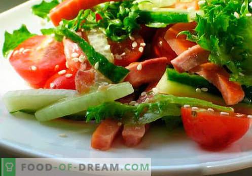 Салати со растително масло - пет најдобри рецепти. Како правилно и вкусно да се подготват салати со растително масло.
