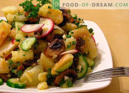 Салата од црниот дроб со кисели краставички - најдобрите рецепти. Како правилно и вкусно да се подготви салата со црн дроб и кисели краставички.