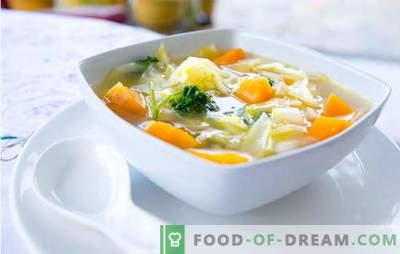 Супа од зеленчук - јадење со армија од витамини! Едноставни рецепти на растителни супи со кнедли, просо, грав, сирење, пилешко
