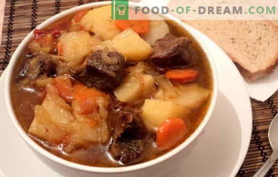 Чорба со компири и месо е задоволувачко и здрави. Различни рецепти за готвење чорби со компири и месо: едноставен и комплексен