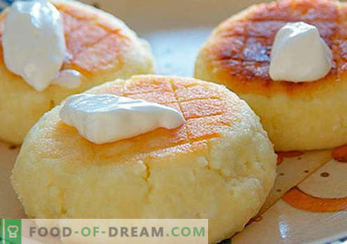 Cheesecakes со гризма - најдобрите рецепти. Како да брзо и вкусно готви слатки со гриз.