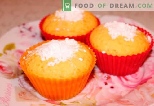 Малини со силиконски торти се најдобрите рецепти. Како брзо и вкусно готви мафини во силиконски калапи.