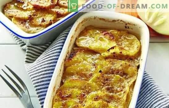 Мелено месо во рерна со компири (чекор-по-чекор рецепт): многу опции. Полнење во рерна со компири (чекор по чекор): во форма и садови