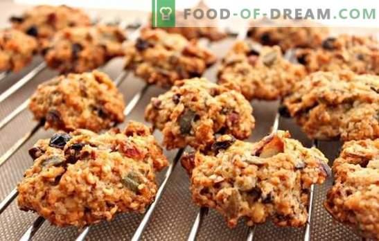 Овесни колачиња без печење - рерната не е потребна! Готвење здрави и вкусни овесни колачиња без печење дома