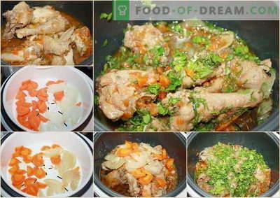 Пилешко во бавен шпорет - најдобрите рецепти. Како да се готви пилешко во бавен шпорет.