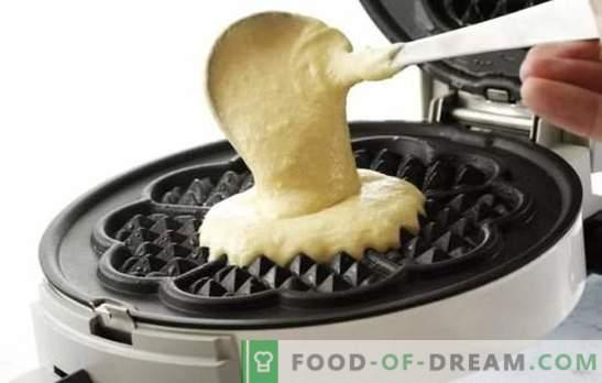 Добро вафлирано тесто е клучот за успешна печење! Најдобрите рецепти за тесто за вафли на путер, млеко, кефир, кисела павлака, урда, кондензирано млеко