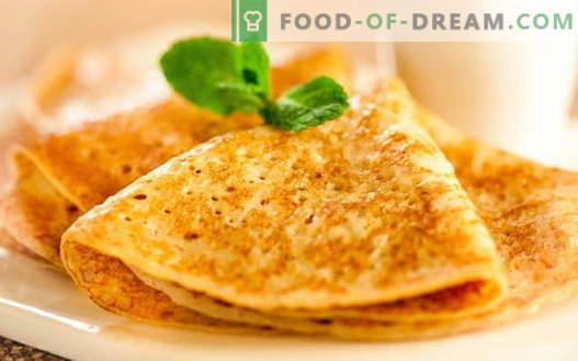 Палачинки на квасец - докажани рецепти. Како да правилно и вкусно готви палачинки со квасец.