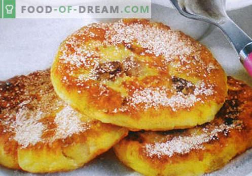 Cheesecakes без брашно - најдобри рецепти. Како да брзо и вкусно готвење со сирење без брашно.
