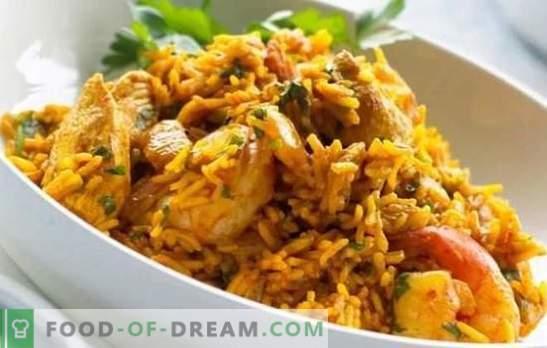 Пилешко пилаф: чекор по чекор рецепт за популарен узбечки сад. Рецепти пилаф со пилешко, зеленчук и суво овошје