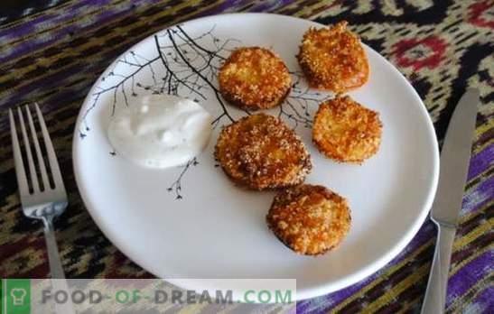 Пржени зелени домати се невообичаена закуска направена од едноставни производи. Рецепти за гурманските пржени зелени домати