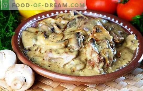 Црниот дроб во бавен шпорет со павлака: избор на рецепти. Како да се готви свинско, говедско, пилешко црниот дроб во бавен шпорет со павлака