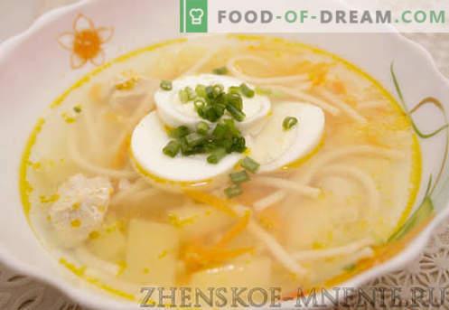 Пилешка супа - Рецепт со фотографии и опис по чекор по чекор