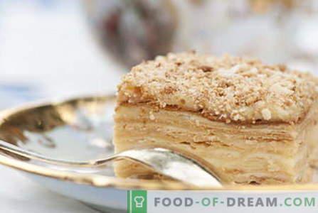 Наполеонска торта - најдобри рецепти. Како правилно и да готви Наполеон торта.