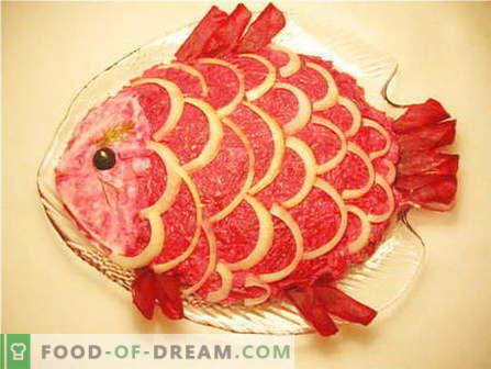 Риба салати - најдобрите рецепти. Како да се готви риба салати и вкусни.