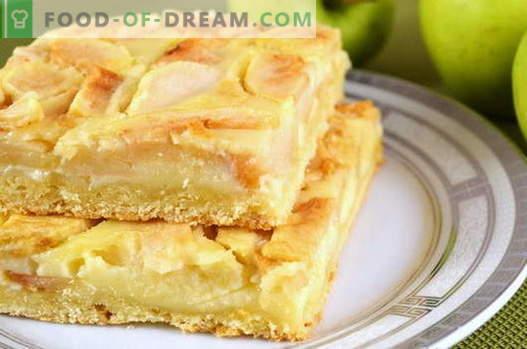Apple Pie - најдобрите рецепти. Како правилно и вкусно да готви пита од јаболка.
