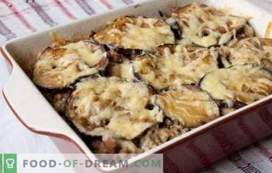 Тепсија на мелено месо и модар патлиџан во рерна - прекрасна вечера! Рецепти од различни јадења од мелено месо и модар патлиџан во рерната