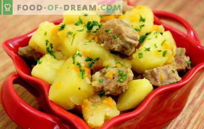 Засушен компир со свинско месо. Рецепти од свинско месо со компири за романтична вечера и срдечен ручек