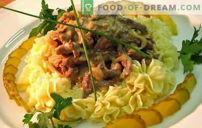 Говедско месо - најдобрите рецепти. Како да правилно и вкусно готви говедско месо stroganoff.