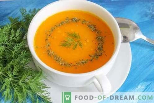 Супа од тиква - светло расположение во секое време од годината. Чекор по чекор рецепт со слика: тиква супа, различни опции