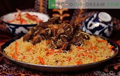 Echte usbekische Plov - Rezepte und Kochgeheimnisse. Wie man usbekischen Pilaw aus Lamm, Hühnerfleisch und getrockneten Früchten