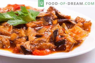 Задушени модри патлиџани се најдобри рецепти. Како да се правилно и вкусно готви готвење модар патлиџан.