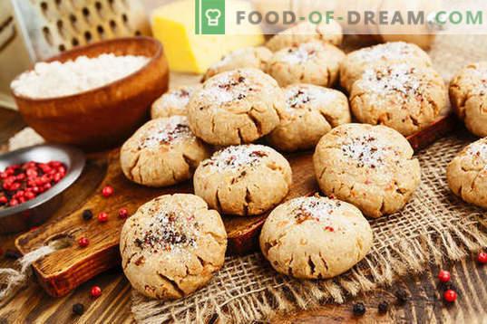 Овесни колачиња со урда - деликатни колачи за секој ден. Едноставни рецепти за овесни колачиња со сирење со сирење и брашно