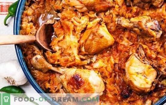 Juicy чорба и светлина solyanka на задушени зелка со пилешко во бавен шпорет. Пилешко со зелка во бавен шпорет - лесно и задоволувачко