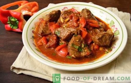 Свински гулаш во нежно месо во сос! Рецепти за вкусен свинско гулаш во тава со зеленчук