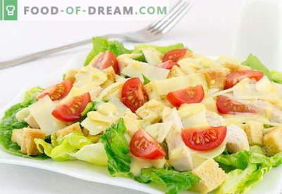 Салата од Цезар со пилешко - најдобри рецепти. Како правилно и вкусно да готви салата