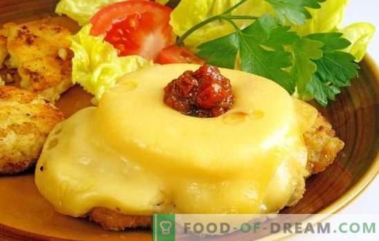 Шпагети со ананас и сирење - сад за одмор! Рецепти од кикирики со ананас и сирење од свинско месо, пилешко, телешко месо