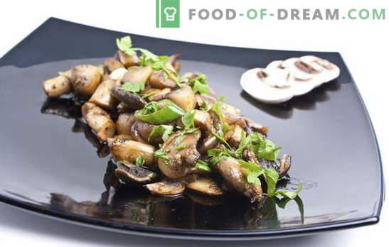 Рецепт за пржени шампињони. Како да пржете шампињони: со или без кромид - соодветна подготовка, преработка и готвење