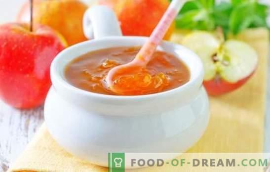 Јаболко за зима - килибарска сладост! Рецепти од различни желе од јаболка за зима: со желатин и без згуснување
