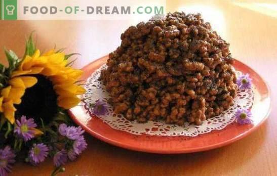 Пченкарно стапче торта - воздух десерт за неколку минути. Торта од пченкарни стапчиња со кондензирано млеко, ореви, плодови