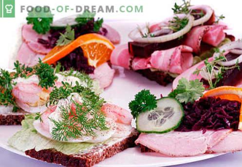 Сендвичи со јајца се најдобри рецепти. Како да брзо и вкусно готви сендвичи со јајце.
