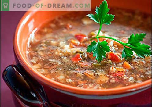 Супа со леќата - докажани рецепти. Како правилно и да се готви супа со леќата.