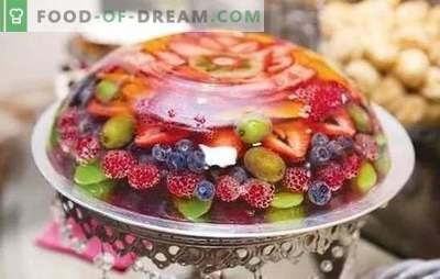 Овошјето желеа е лесен десерт за оние кои ја следат нивната фигура. Избор на едноставни и оригинални овошни желе рецепти