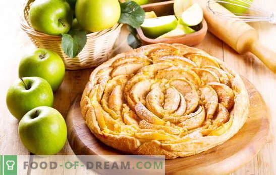 Како брзо да се направи луди печиво торта со јаболка. Јаболко, цимет, суво грозје и мамки од слој од мамка