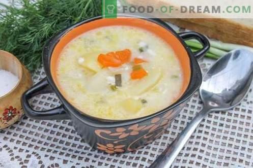 Преработена супа од сирење - чекор по чекор рецепт со слики