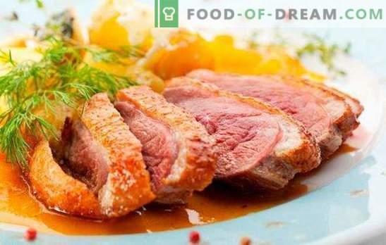 Патка на дојка: рецепти за печени, печени, отсечени. Највкусните верзии на патка, според рецептите на готвачи од Франција, Италија и Русија