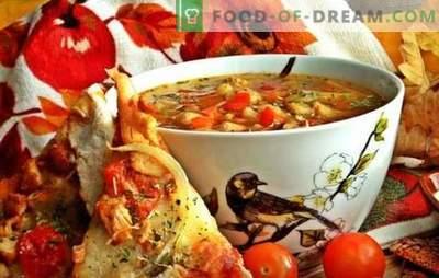 Супа од пост со грав - стара технологија со нови компоненти. Рецепти од супа од постен со грав во најновата руска кујна