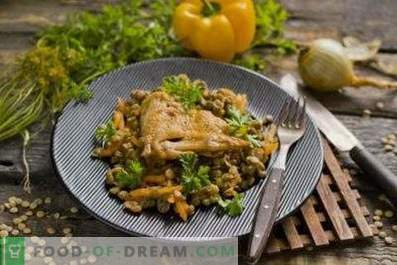 Lentils with chicken